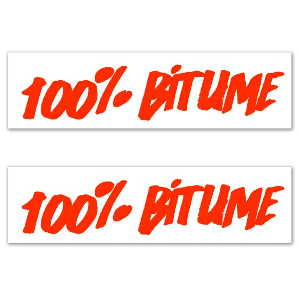 Kit Adhesivos Moto 100% Bitume 2 Stickers 100% Bitume 14 x 3 Fluo Orange