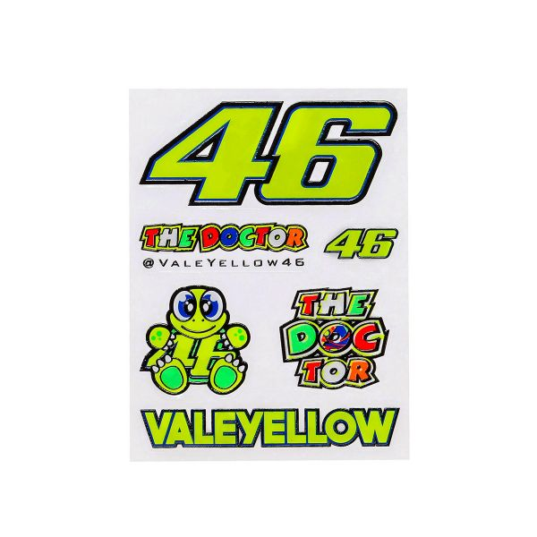 Kit Adhesivos Moto VR 46 Stickers Small Multicolor VR46