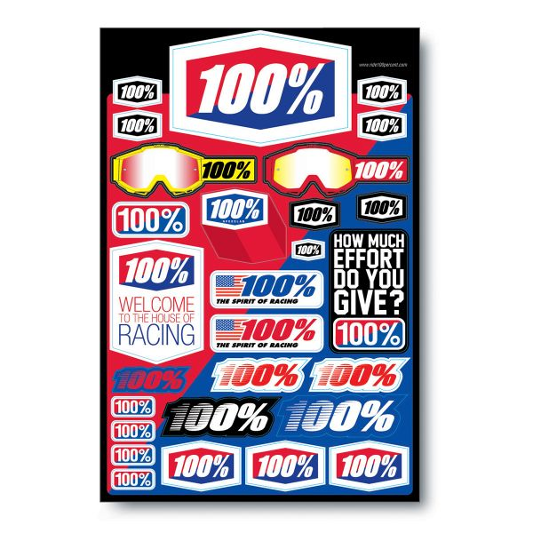 Kit Adhesivos Moto 100% Decal Sheet