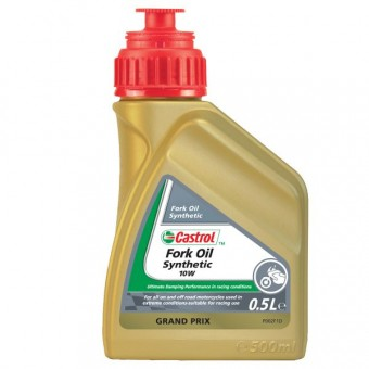 Aceite para horquilla Castrol Synthetic Fork Oil 10W 500 ml