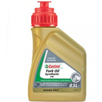 Aceite para horquilla Castrol Synthetic Fork Oil 5W 500 ml