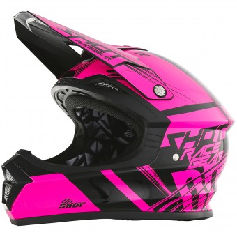 Casque Cross SHOT Furious Claw Neon Pink