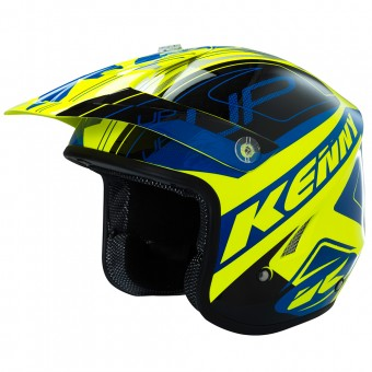Casque Cross Kenny Trial Up Neon Yellow
