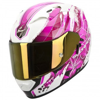 Casque Integral Scorpion EXO 1200 Air Lilium Blanco Rose