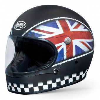 Casque Integral Premier Trophy Flag Negro Mate UKBM