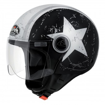 Casque jet Airoh Compact Shield Negro Mate