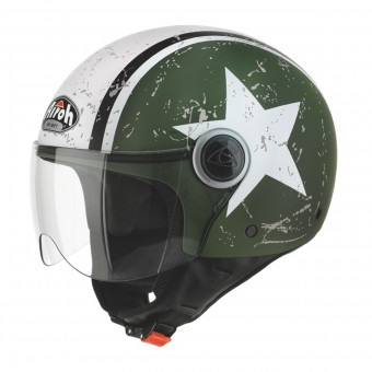 Casque jet Airoh Compact Shield Caqui Mate