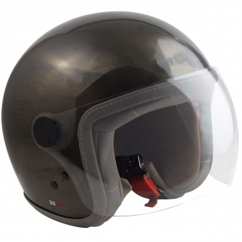 Casque jet MAX Chic Scratch Bronce Efecto Rayado