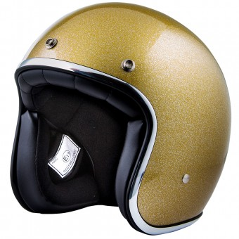 Casque jet Stormer Pearl Glitter Gold