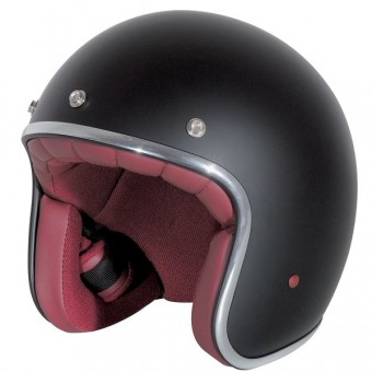 Casque jet Stormer Pearl Negro Mate