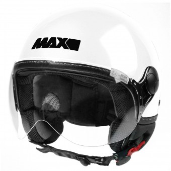 Casque jet MAX Power Design Blanco Negro
