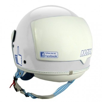 Casque jet MAX The Social Network Blanco