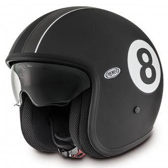 Casque jet Premier Vintage Eight 9bm Negro Mate