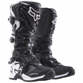 Botas Motocross FOX Comp 5Y Black Niño 001