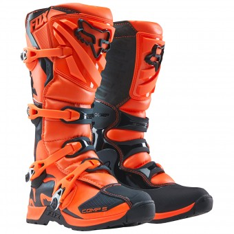 Botas Motocross FOX Comp 5Y Orange Niño 009