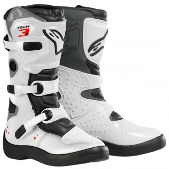 Botas Motocross Alpinestars Tech 3 S White Black Niño