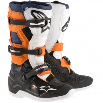 Botas Motocross Alpinestars TECH 7 S Black Orange Blue Niño