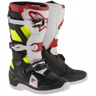 Botas Motocross Alpinestars TECH 7 S Black Red Yellow Fluo Niño