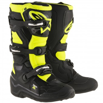 Botas Motocross Alpinestars TECH 7 S Black Yellow Fluo Niño