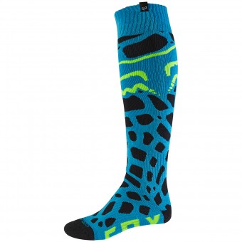 Calcetines Motocross FOX Coolmax Thin Grav Blue 002