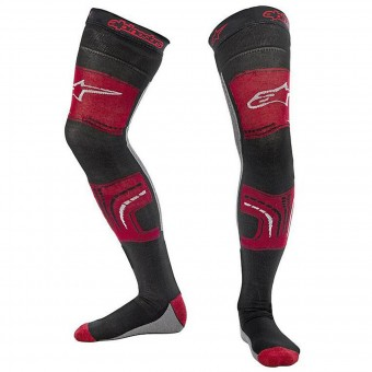 Calcetines Motocross Alpinestars Knee Brace Socks Red Black