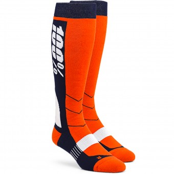 Calcetines Motocross 100% Socks Hi Side Orange