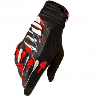 Guantes motocross SHOT Devo Capture Black Red Niño