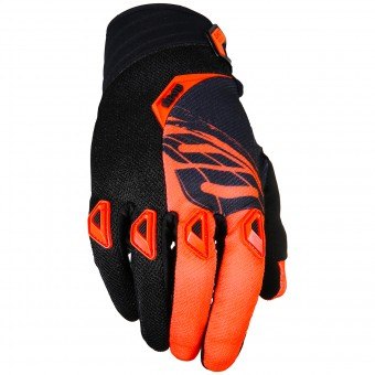 Guantes motocross SHOT Devo Fast Neon Orange Black Niño