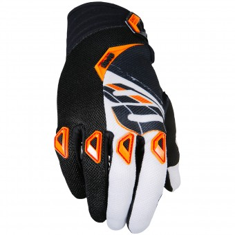 Guantes motocross SHOT Devo Fast Orange Black Niño