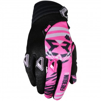Guantes motocross Freegun Devo Trooper Pink Black Niño
