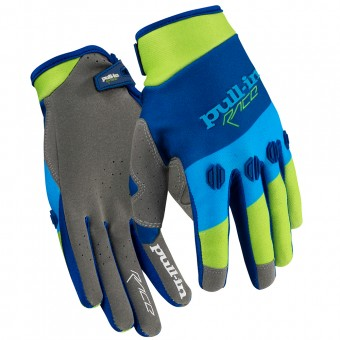 Guantes motocross pull-in Fighter Green Blue