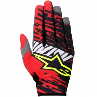 Guantes motocross Alpinestars Racer Braap Red Black Niño
