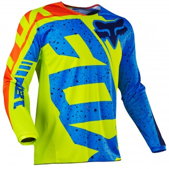 Camiseta Motocross FOX 180 Nirv Yellow Blue Niño 586