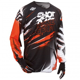 Camiseta Motocross SHOT Devo Capture Orange Niño