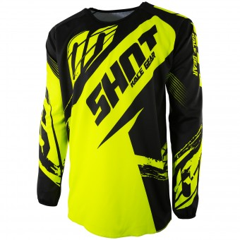 Camiseta Motocross SHOT Devo Fast Neon Yellow Niño