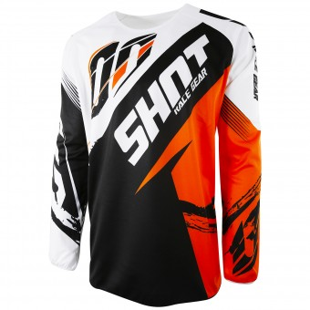 Camiseta Motocross SHOT Devo Fast Orange Niño