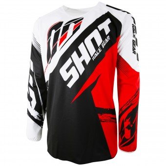 Camiseta Motocross SHOT Devo Fast Red Niño
