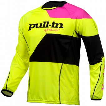 Camiseta Motocross pull-in Fighter Neon Yellow Pink