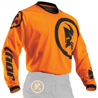 Camiseta Motocross Thor Phase Gasket Flo Orange Niño