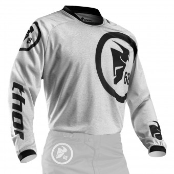 Camiseta Motocross Thor Phase Gasket Heather - Niño