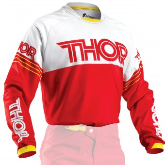 Camiseta Motocross Thor Phase Hyperion Red Niño