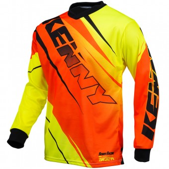 Camiseta Motocross Kenny Track Neon Orange Yellow Niño