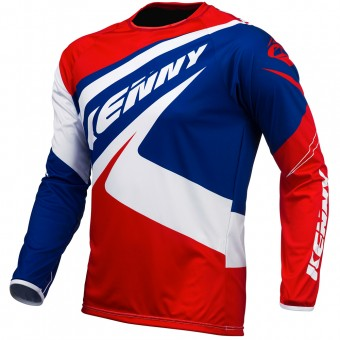 Camiseta Motocross Kenny Trial Up Blue White Red