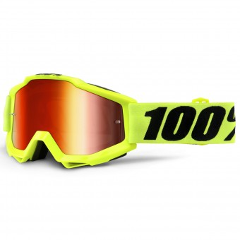 Gafas motocross 100% Accuri Fluo Yellow Mirror Red Lens Niño