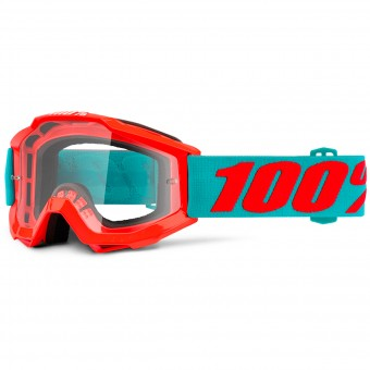 Gafas motocross 100% Accuri Passion Orange Clear Niño