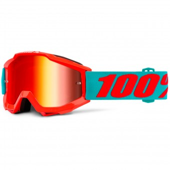 Gafas motocross 100% Accuri Passion Orange Mirror Red Niño