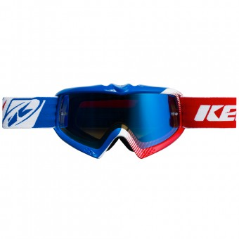 Gafas motocross Kenny Performance Blue White Red Kid