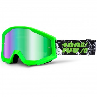 Gafas motocross 100% Strata Grafty Mirror Green Lens
