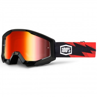 Gafas motocross 100% Strata Slash Mirror Red Lens