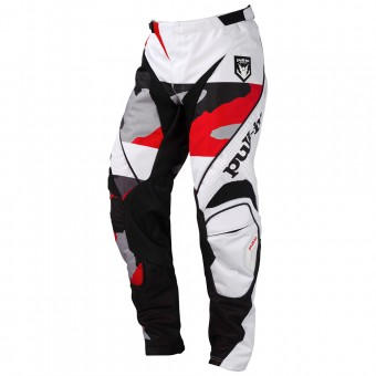 Pantalón motocross pull-in Fighter Camo Black White Red Pant